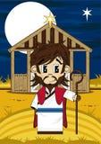 Jesus Christ at Nativity Barn Royalty Free Stock Image