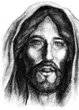 Jesus Christ of Nazareth. Portrait of Jesus Christ of Nazareth stock illustration