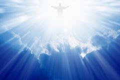 Jesus Christ nel cielo Fotografie Stock Libere da Diritti