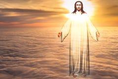 Jesus Christ nel concetto di religione di cielo immagine stock