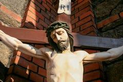 Jesus Christ nenhum a cruz foto de stock