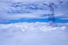 Jesus Christ no conceito da religião do céu imagens de stock royalty free