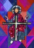 Jesus Christ Oil-het schilderen Stock Afbeelding