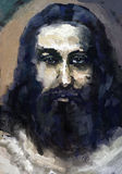Jesus Christ. Oil painting on panel Royalty Free Stock Photography