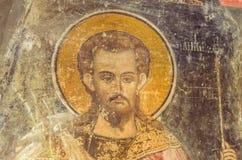 Jesus Christ in old fresco Stock Image