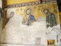 Jesus Christ old Mosaic which is known as Christ Pantocrator stock images