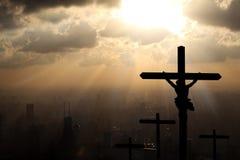 Jesus Christ onze Verlosser stock afbeeldingen