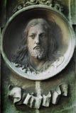 Jesus Christ op een oud graf (standbeeld) Royalty-vrije Stock Fotografie