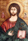 Jesus Christ orthodox icon. Ancient paint with Jesus Christ � orthodox icon Royalty Free Stock Photography