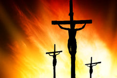 Calvary crucifixion Royalty Free Stock Photo