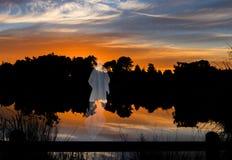 Jesus Christ på vatten Fotografering för Bildbyråer