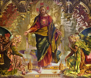 Jesus Christ - painting from Siena church royalty free stock images
