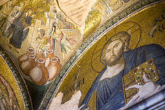 Jesus Christ Pantocrater.The Church of the Holy Saviour in Chora, Kariye Muzesi, Stock Image