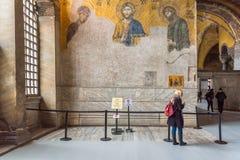 Jesus Christ Pantocrator, detalhe do mosaico bizantino do deesis imagens de stock royalty free