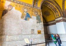 Jesus Christ Pantocrator, detalhe do mosaico bizantino do deesis foto de stock royalty free