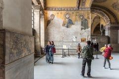 Jesus Christ Pantocrator, detalhe do mosaico bizantino do deesis fotos de stock royalty free