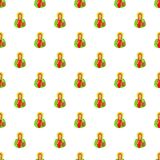 Jesus Christ pattern, cartoon style Royalty Free Stock Photography