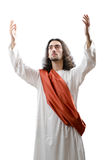 Jesus Christ personifacation  on the white Stock Images