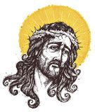 Jesus Christ  Portrait Stock Image