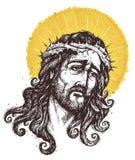 Jesus Christ  Portrait. Hand drawing - Ink portrait of Jesus Christ Stock Image