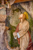 Jesus Christ praying. Jesus Christ while praying in the garden of olive trees Stock Photography