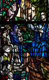 Jesus Christ preaching (stained glass window). A photo of Jesus Christ preaching (stained glass window Royalty Free Stock Photos