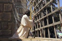 Jesus Christ prendeu fotografia de stock royalty free