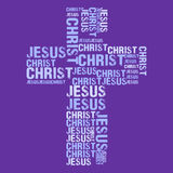 Jesus Christ Purple cross. Vector illustration of typographic Jesus Christ Purple cross Royalty Free Stock Images