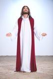 Jesus Christ que reza ao deus fotografia de stock