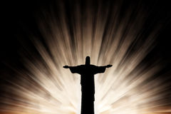 Jesus Christ in radiance. Jesus Christ in beautiful radiance background Royalty Free Stock Photography