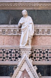 Jesus Christ, Redeemer, Portal on the sidewall of Florence Cathedral Royalty Free Stock Images