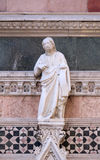 Jesus Christ, Redeemer, Portal on the sidewall of Florence Cathedral Royalty Free Stock Photos