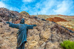 Jesus Christ the Reedemer statue in Tenerife, Canary Islands Royalty Free Stock Photography