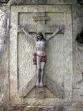 Jesus Christ - relevo carven na pedra da areia foto de stock royalty free