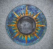 Jesus Christ relief surrounded by mosaic ornament Royalty Free Stock Photography