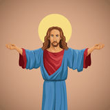 Jesus christ religious image blessed Royalty Free Stock Photo