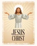 Jesus christ religious image vintage Royalty Free Stock Image