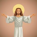 Jesus christ religious praying image Royalty Free Stock Photo