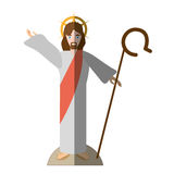 Jesus christ resurrects shadow Royalty Free Stock Photo