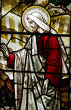 Jesus Christ (risen) in stained glass Stock Image
