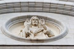 Jesus Christ's bas-relief Royalty Free Stock Photography