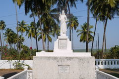 Jesus Christ's statue. In the yard of Jesus's Mother church in the state of Goa Royalty Free Stock Images