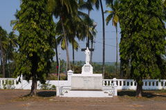 Jesus Christ's statue. In the yard of Jesus's Mother church in the state of Goa Royalty Free Stock Photography
