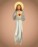 Jesus christ sacred heart spirit. Illustration eps 10 Stock Photography