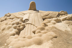 Jesus Christ Sand Sculpture Stock Image
