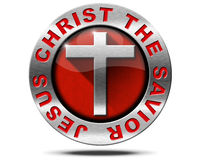 Jesus Christ the Savior - Metal Symbol Royalty Free Stock Photos