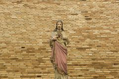 Jesus Christ Saviour and Son of God. Salvation is being saved or protected from harm or being saved or delivered from a dire situation. In christian religion Stock Image