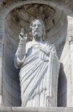 Jesus Christ Sculpture at the Basilique du Sacre Coeur in Paris Stock Photos
