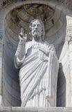 Jesus Christ Sculpture at the Basilique du Sacre Coeur in Paris Stock Photos