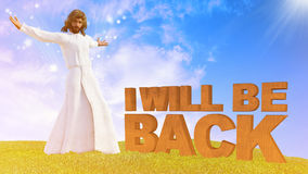 Jesus Christ Second Coming stock image